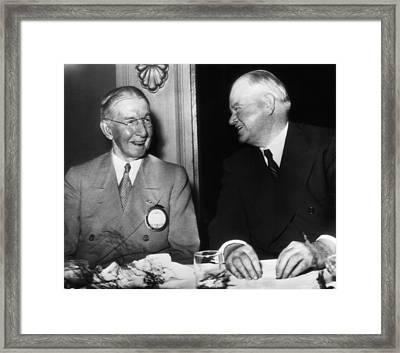 Former President Herbert Hoover Right Framed Print
