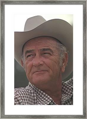 Former President Lyndon Johnson. Lbj Framed Print by Everett