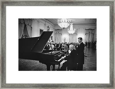 Former President Truman Plays The White Framed Print by Everett