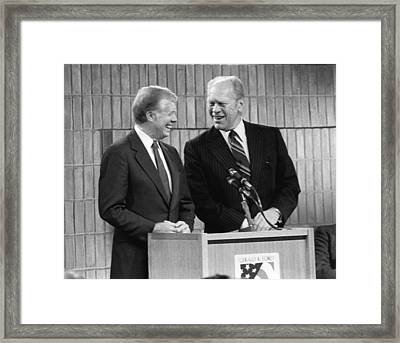 Former Presidents Jimmy Carter Framed Print by Everett