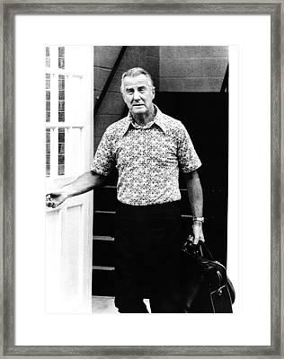 Former Vice-president Spiro T. Agnew Framed Print by Everett