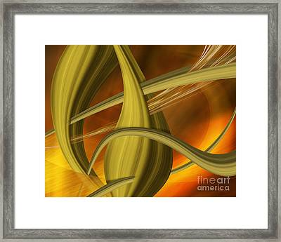 Framed Print featuring the digital art Forms In Movements 5 by Johnny Hildingsson