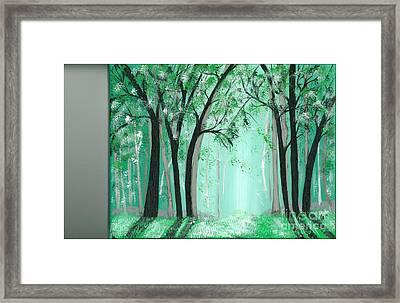 Forrest Framed Print by Kat Beights