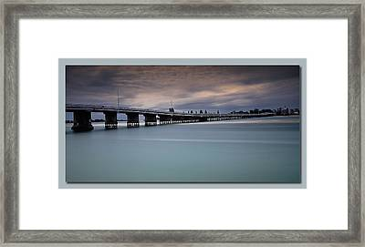 Framed Print featuring the photograph Forster Bridge 01 by Kevin Chippindall