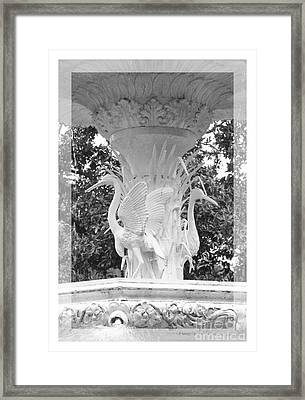 Forsyth Fountain - Black And White 4 Framed Print by Carol Groenen