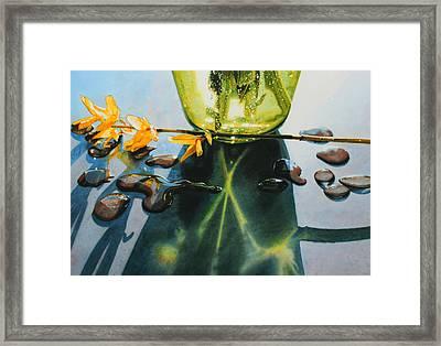 Forsythia Framed Print by Denny Bond