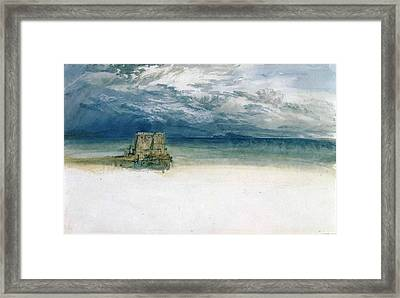 Fort At The Sea Framed Print by Sumit Mehndiratta