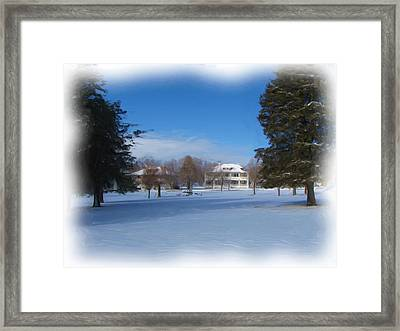 Fort Bayard In Winter Framed Print by FeVa  Fotos