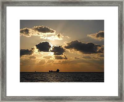 Framed Print featuring the photograph Fort Lauderdale Sunrise by Clara Sue Beym