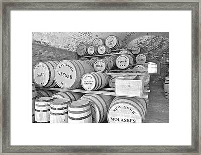 Fort Macon Food Supplies Bw 9070 3759 Framed Print by Michael Peychich