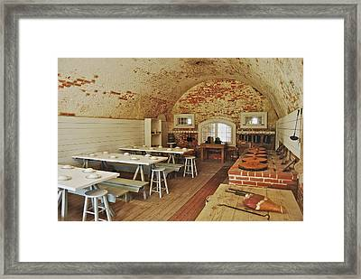 Fort Macon Mess Hall_9078_3765 Framed Print by Michael Peychich