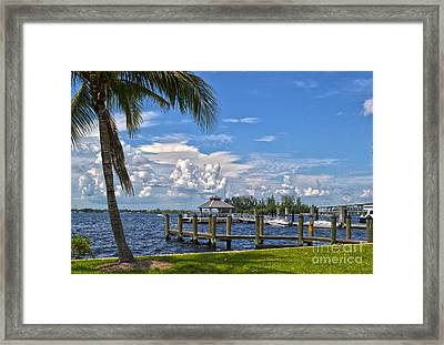 Fort Myers Dock Framed Print by Timothy Lowry
