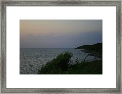 Fort Pond Bay Montauk Framed Print by Christopher Kirby