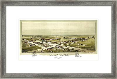Fort Reno Oklahoma Territory 1891 Framed Print by Donna Leach
