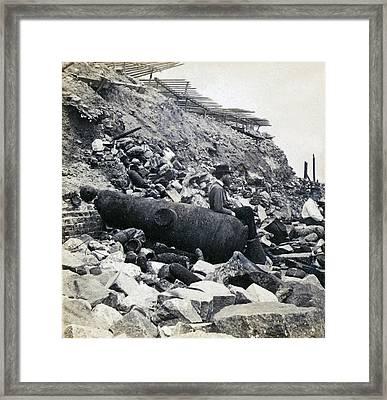 Fort Sumter Civil War Debris - C 1865 Framed Print by International  Images