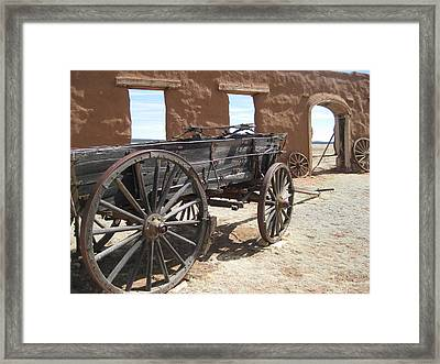 Fort Union Wagon Framed Print by Sean Johnson