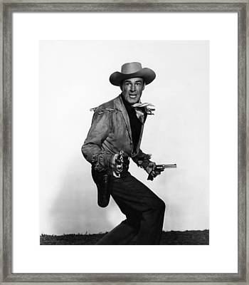 Fort Worth, Randolph Scott, 1951 Framed Print