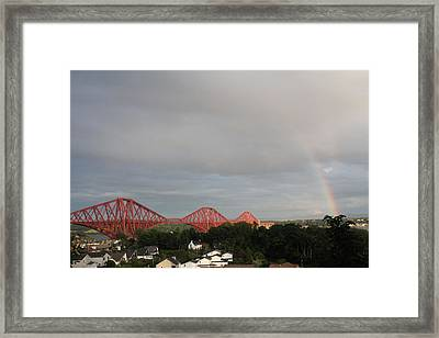 Framed Print featuring the photograph Forth Bridge by David Grant