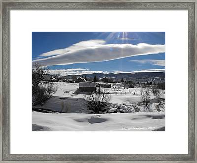 Fortress Of Solitude Framed Print by Adam Cornelison