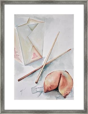 Fortune Cookie Framed Print by Elizabeth York