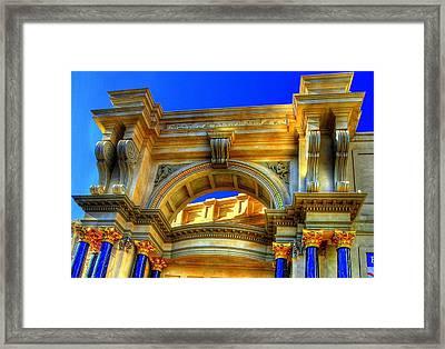 Forum Shops Arch Framed Print