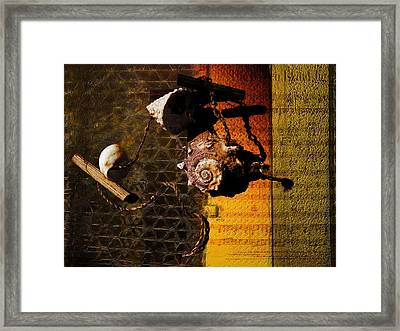 Found Totems Framed Print by Janet Kearns