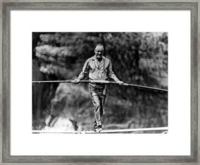 Founder Of The Flying Wallendas, Karl Framed Print by Everett