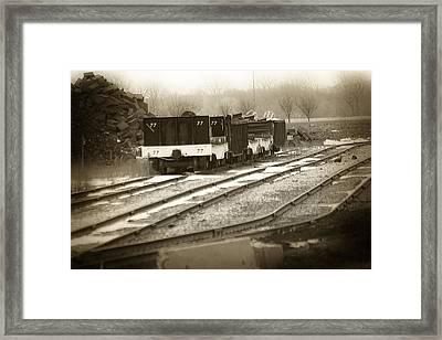 Foundry Rail Cars Framed Print by Scott Hovind