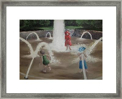 Fountain Framed Print by Angela Stout
