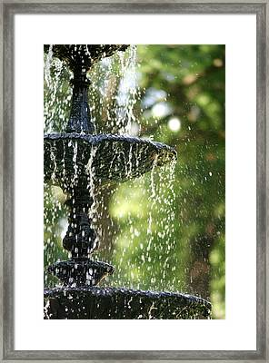 Framed Print featuring the photograph Fountain At Capitol Square by Suzanne Powers