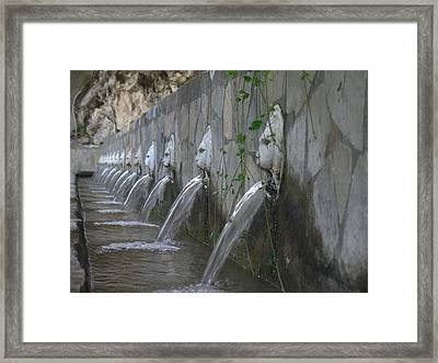 Framed Print featuring the photograph Fountain by David Gleeson