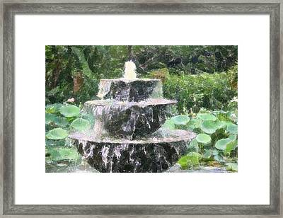 Fountain Framed Print by Donna  Smith