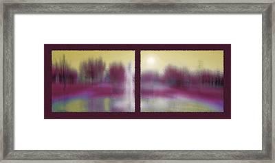 Fountain Dreamscape Diptych 3 Framed Print by Steve Ohlsen