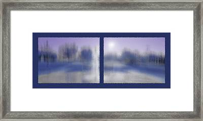 Fountain Dreamscape Diptych 4 Framed Print by Steve Ohlsen