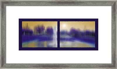 Fountain Dreamscape Diptych Framed Print by Steve Ohlsen