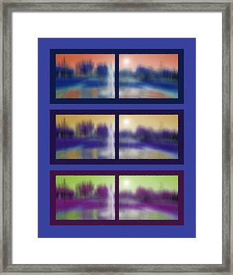 Fountain Dreamscape Hexaptych Framed Print by Steve Ohlsen