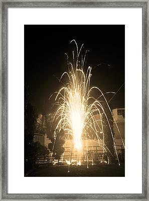 Fountain Firework Framed Print by Sumit Mehndiratta