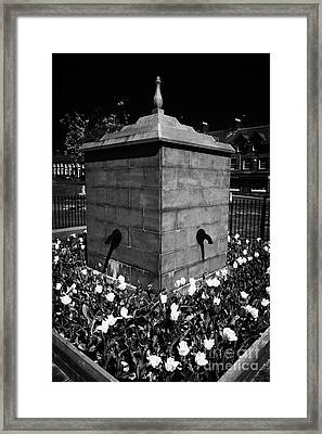 Fountain In Bessbrook Model Village County Armagh Northern Ireland Framed Print by Joe Fox