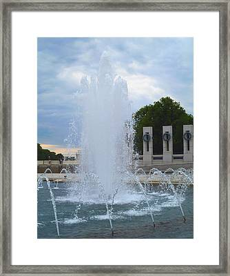 Framed Print featuring the photograph Fountain In D.c. by Susi Stroud