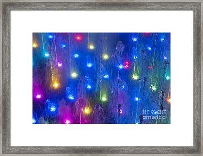 Fountain Of Color Framed Print by John Greim