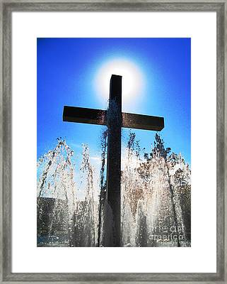 Fountain Of Hope Framed Print by Denise Hopkins