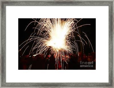 Fountain Of Sparks Framed Print by Agusti Pardo Rossello