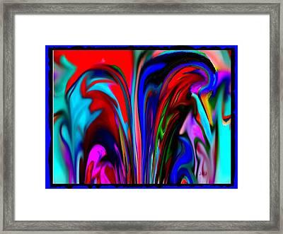Fountain Of Vibrancy Framed Print by Jan Steadman-Jackson