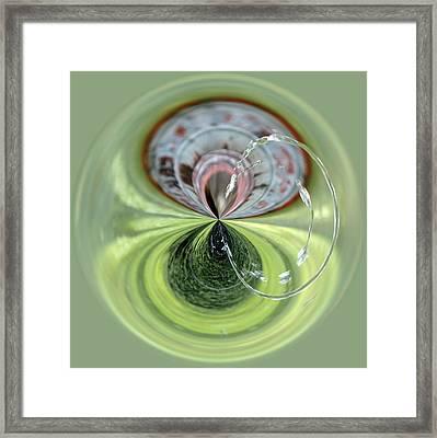Fountain Orb Framed Print