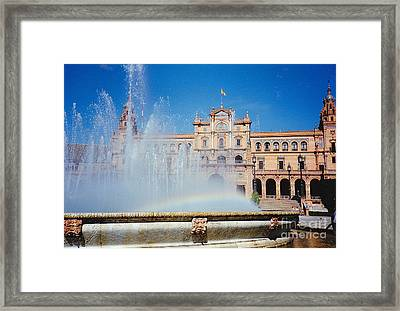Fountain Rainbow Framed Print