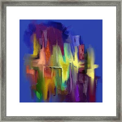 Fountains Of Lima Framed Print