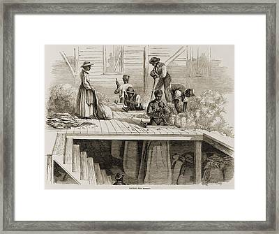 Four 1869 Illustrations Show Processing Framed Print by Everett
