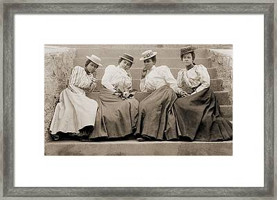 Four African American Women Students Framed Print