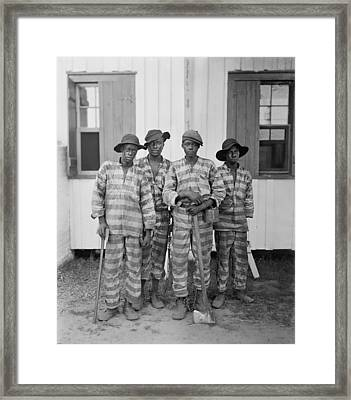 Four African American Youths Framed Print