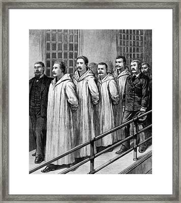 Four Chicago Anarchists Convicted Framed Print